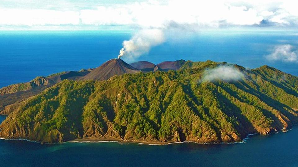 Active volcano in andaman