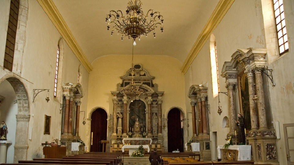 Inside St. Francis' Church